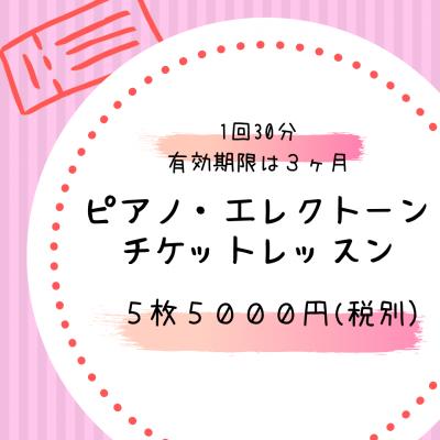 ピアノ・エレクトーン チケットレッスン